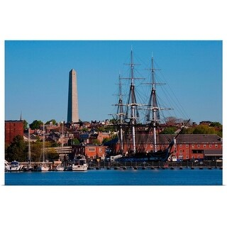 """""""USS Constitution historic ship, Freedom Trail, Charlestown, Boston, MA"""" Poster Print"""