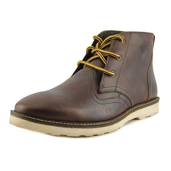 Crevo Cray Men Round Toe Leather Boot