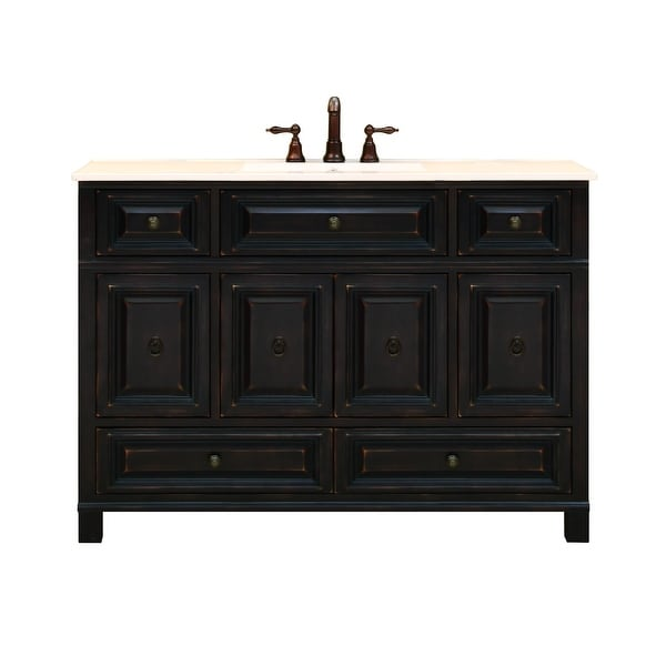 Sunny Wood Bh4821d Barton Hill 48 Vanity Cabinet Only Antique Black