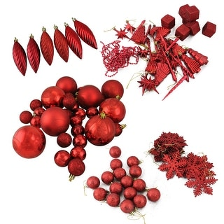 """Link to 125ct Apple Red Shatterproof 3-Finish Christmas Ornaments 5.5"""" Similar Items in Christmas Decorations"""