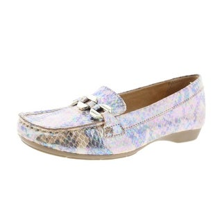 Naturalizer Womens Gala Metallic Embossed Loafers