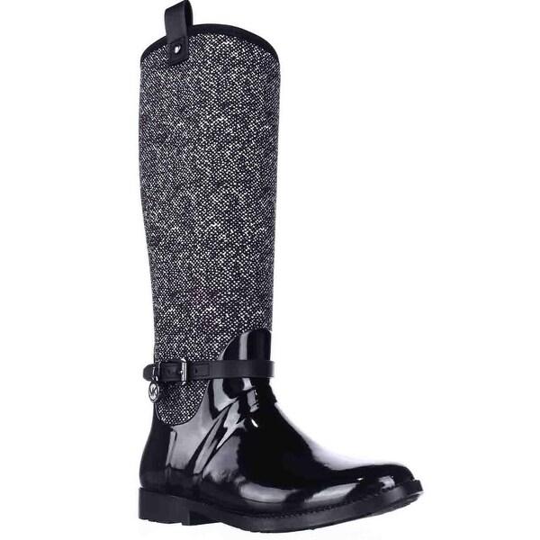 MICHAEL Michael Kors Charm Stretch Rainboots, Black/White