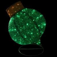 "36"" LED Lighted Twinkling Green Glitter Onion Ornament Christmas Yard Art Decoration"