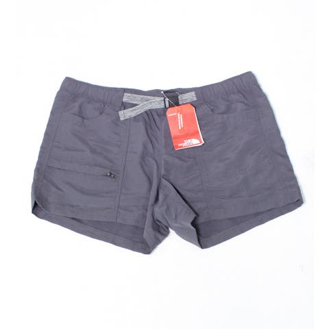 The North Face Women's Shorts Gray Size Large L Classic Hike Belted