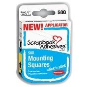 "Scrapbook Adhesives Click 'n Stick Mounting Squares 500/Pkg-Permanent, White, .5""X.5"""