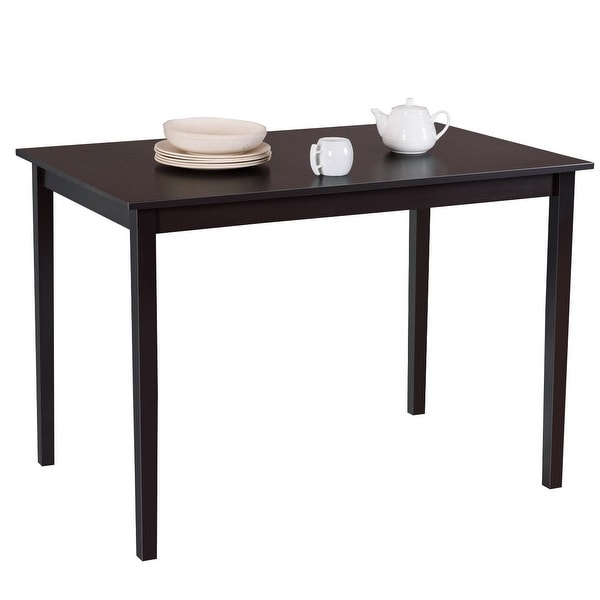 Square Rectangular Modern Dining Table Legs Industrial: Shop Gymax Modern Rectangle Dining Table Wooden Legs
