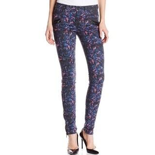 Joe's NEW Thriller Women's Size 27X30 Faux Leather Trim Skinny Jeans