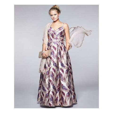 MORGAN & CO Purple Spaghetti Strap Full-Length Dress 0