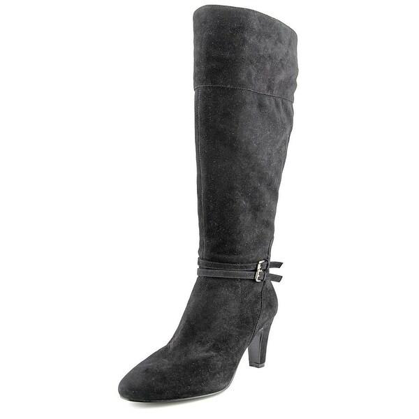 Bandolino Wiser Wide Calf Women Round Toe Suede Knee High Boot