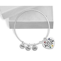 Someone With Autism Loves Me Retractable Charm Bracelet