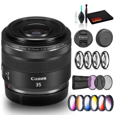 Canon RF 35mm f/1.8 IS Macro STM Lens (Intl Model) Bundle Includes