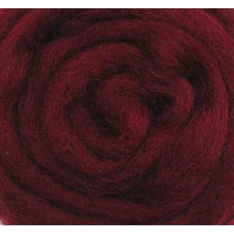 "Raspberry - Wool Roving 12"" .22Oz"