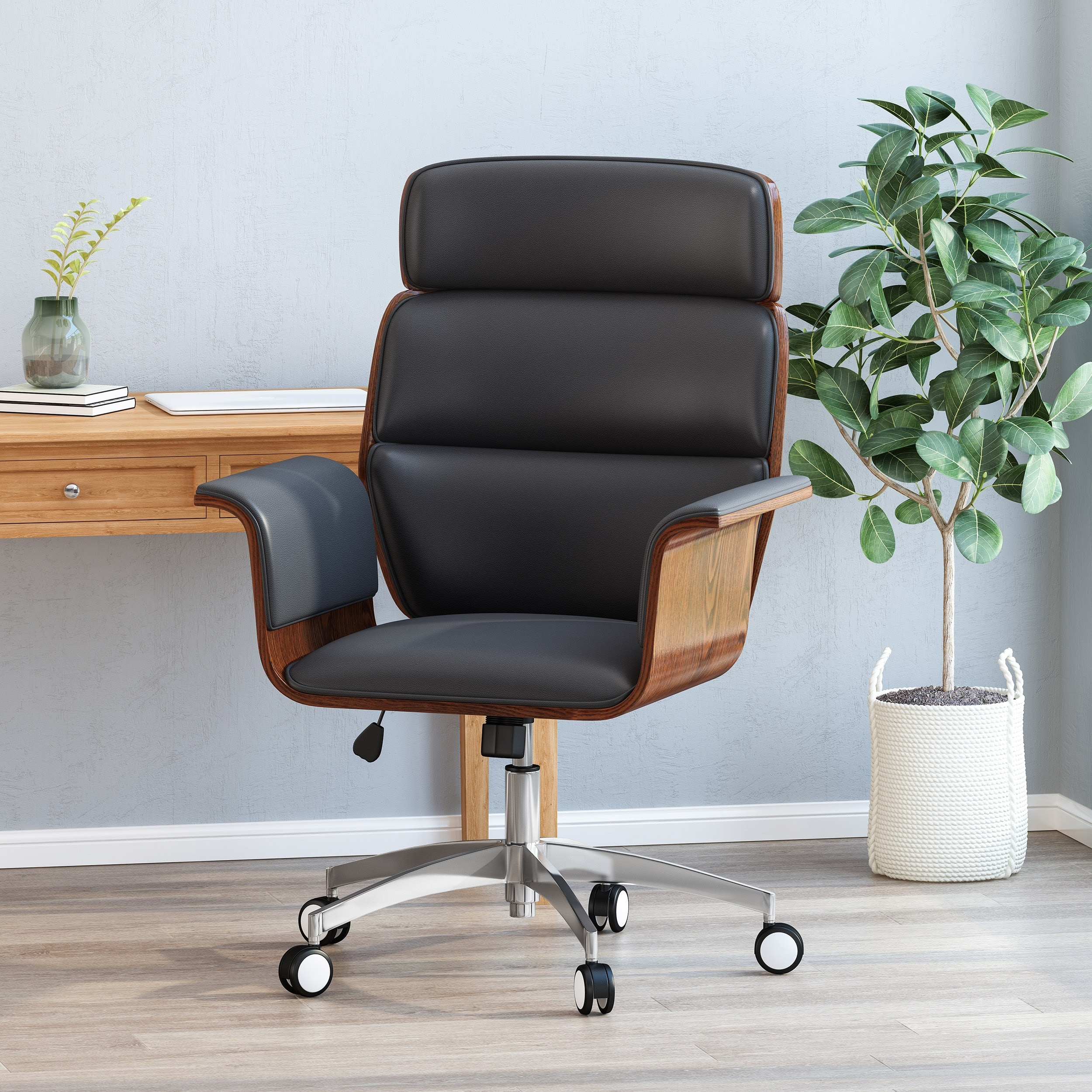 Image of: Shop Black Friday Deals On Cannonade Mid Century Modern Swivel Office Chair By Christopher Knight Home Overstock 31914200