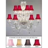 Swarovski Crystal Trimmed Chandelier Lighting Murano Venetian Style All Crystal