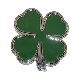 CTM® Four Leaf Clover Lucky Belt Buckle - Green - One Size