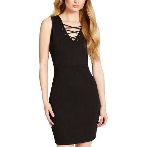 Jessica Simpson Womens Terrie Party Dress Lace-Up Above Knee