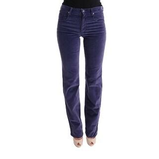 Ermanno Scervino Purple Regular Fit Stretch Casual Jeans - it40-s