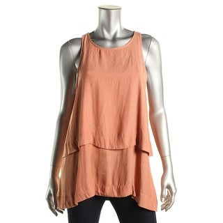 Free People Womens Tiered Open Back Blouse
