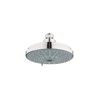 """Grohe 27 135  Rainshower Cosmopolitan 6.25"""" Multi-Function Shower Head with DreamSpray Technology - 2.5 GPM"""