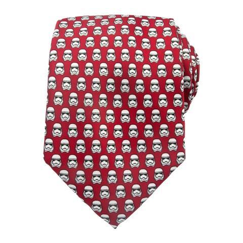 Star Wars Men's Stormtrooper Regular Neck Tie - Red White