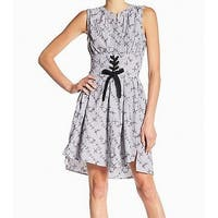 William Rast Blue Womens Size XL Corset Striped Sheath Dress