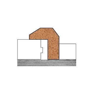 "APC Cork APC-AMOR-P-EC 78"" End Cap For Use With APC-AMOR-P Cork Flooring (maple - N/A"