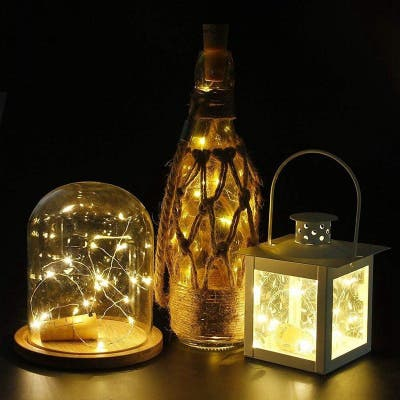 8pcs 2m 20LED Wine Bottle Copper Wire Lights String Lights for Wedding Festival Party Decoration - Multi