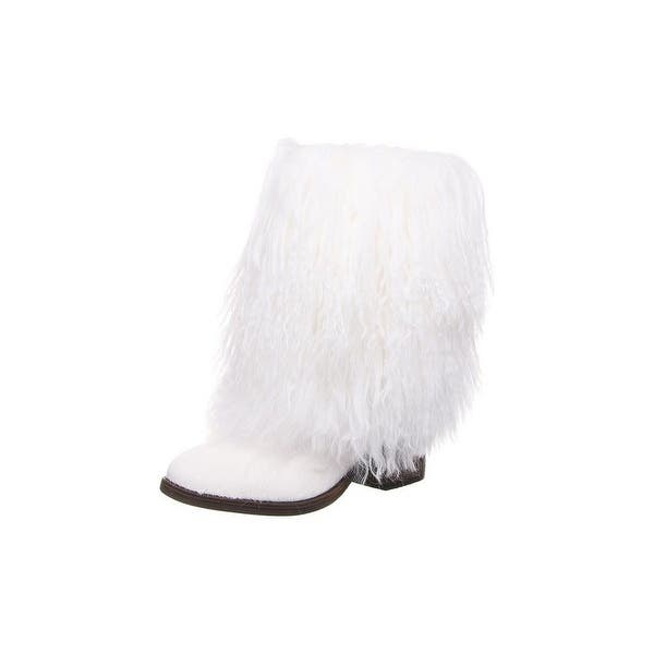"""Details about  /Bearpaw Fashion Boots Womens Boticia 8 1//2/""""Shaft Curly Lamb 2343W"""