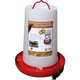 Farm Innovators HPF-100 Heated Plastic Poultry Fountain, 3 Gallon