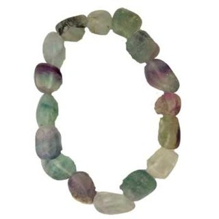 Fluorite, Rainbow gemstone bracelet