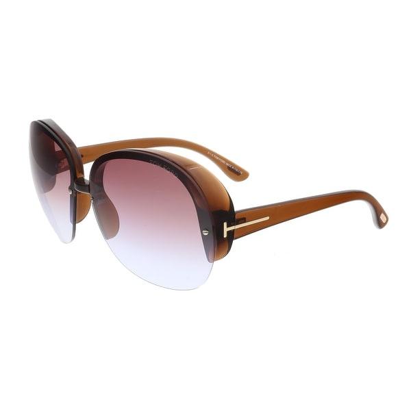 Tom Ford FT0458 48Z MARINE Brown Round Sunglasses - 68-12-135