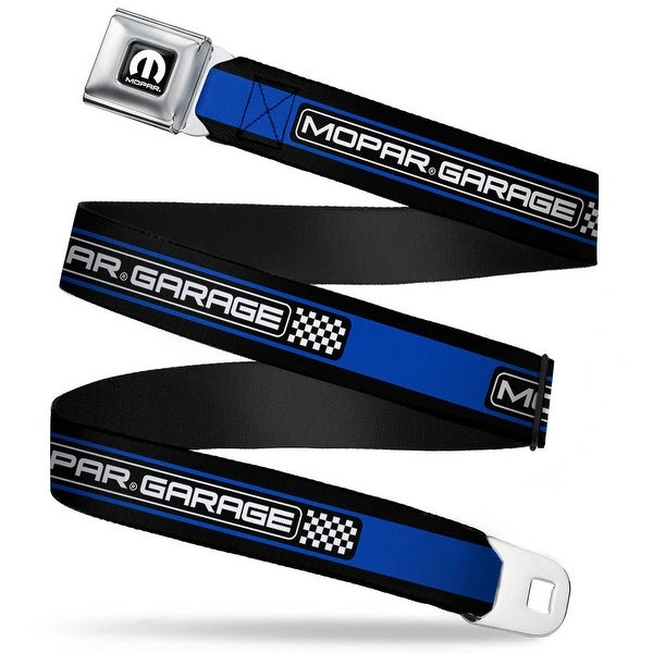 Mopar Logo Full Color Black White Mopar Garage Checker Logo Stripe Black Seatbelt Belt