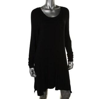 Kensie Womens Casual Dress Jersey Sharkbite Hem