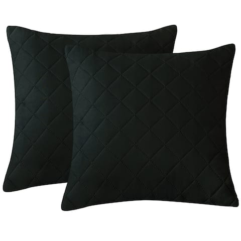 Subrtex Throw Pillow Simple Square Covers,2pcs