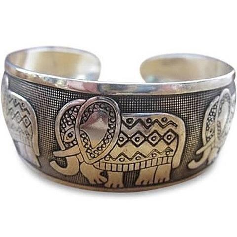 Ganapati Lucky Elephant Bracelet - Silver