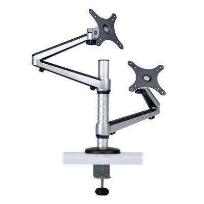 Tripp Lite Ddr1327dcs Dual Display Lcd Desk Mount Arm Swivel Tilt For 13 - 27 Inches Flat Panel