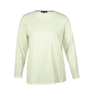 Jones New York Women's Long Sleeve Stretch Top - ivory