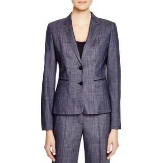BOSS Hugo Boss Womens Juleani Two-Button Blazer Wool Blend Peplum - 14