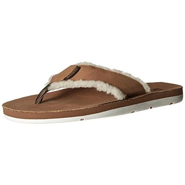 233cdf186aa2 Shop Scott Hawaii Mens Hulu Flip-Flops Faux Leather Lined - Free ...