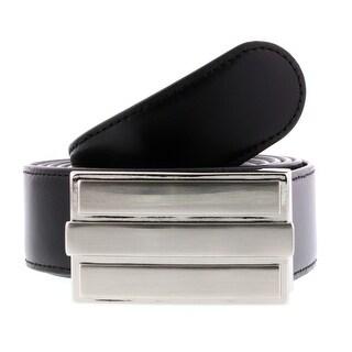 HS Collection HSB 4001 Black/Brown Reversible/Adjustable Mens Belt