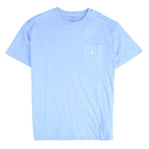 Polo Ralph Lauren Mens Shirt Blue Medium M Crewneck Short Sleeve Tee