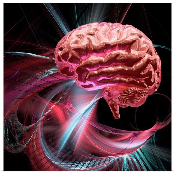 """Brain research, conceptual artwork"" Poster Print"