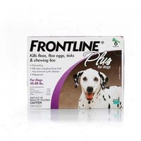 Frontline Flea Control Plus for Dogs And Puppies 45-88 lbs 6 Pack