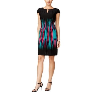Tahari ASL Womens Casual Dress Printed Pleated