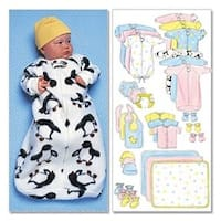 Nb0 (Nb-S-M) - Infants' Bunting; Jumpsuit; Shirt; Diaper Cover; Blanket; Ha