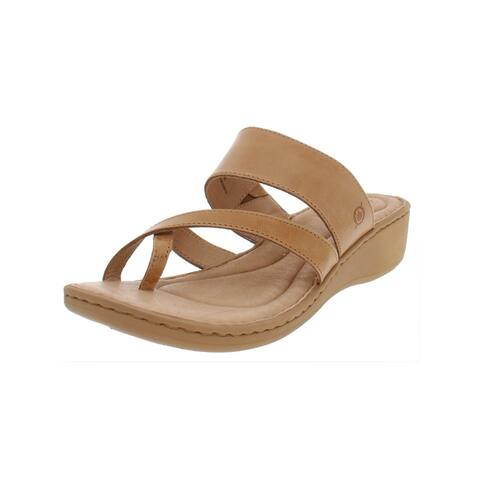 1d3ec7741f03 Born Womens Siene Wedge Sandals Leather Thong