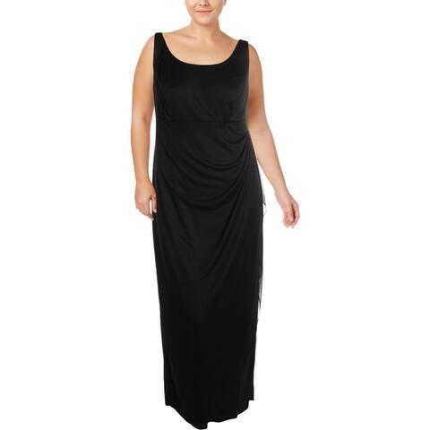 MSK Womens Plus Evening Dress Ruched Sleeveless - 14W