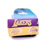 LAker Rubber Wrist Band (Set of 2) NBA