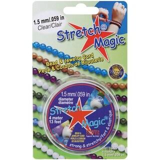 Stretch Magic Bead & Jewelry Cord 1.5mmX4m-Clear - CLEAR