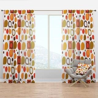Link to Designart 'Abstract Retro Geometric I' Mid-Century Modern Curtain Panel Similar Items in Window Treatments